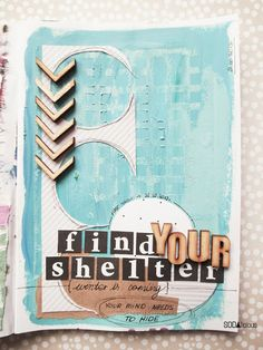"""made by Marysza ► SODAlicious art journal challenge No13 """"Shelter"""""""