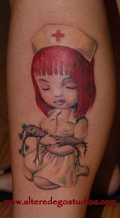 ryden nurse tattoo    nurse tattoo by altered ego studios, schuylkill haven pa 17972