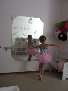DIY Ballet bar  mirror :)