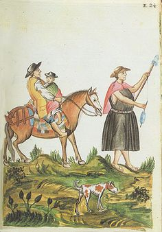Manuscritos de América en las Colecciones Reales - Trujillo del Perú - Siglo XVIII - Indio de sierra a caballo