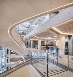 Gallery of The Financial Park Offices / Helen & Hard architects + SAAHA - 3 Ceiling Light Design, Lighting Design, Shopping Mall Architecture, Atrium Design, Commercial Office Design, Mall Design, Interior Design Studio, At Home Store, Interior Architecture