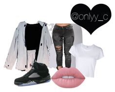 """""""Untitled #83"""" by onlyyc on Polyvore featuring NIKE, RE/DONE and Lime Crime"""