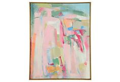 H. Littel Abstract Oil Painting