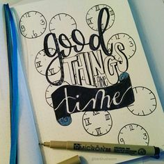 Good things take time • handlettering by @Barbrusheson