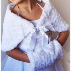 Flowergirl Communion Minx Faux Fur Muff Wrap Shawl Winter Wedding... ($35) ❤ liked on Polyvore featuring intimates, hosiery, socks, silver, women's clothing, white hosiery, wedding hosiery, faux fur socks, shrug cardigan and wrap shrug