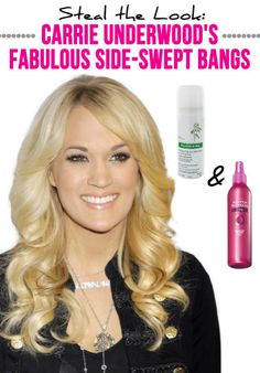 How to Rock Side-Swept Bangs Just Like Carrie Underwood�s
