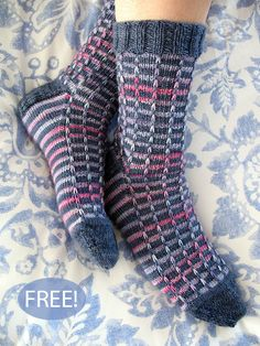 Knitting Patterns Socks Ravelry: Prism pattern by Jaya Srikrishnan Knitted Socks Free Pattern, Crochet Socks, Knit Or Crochet, Knitting Patterns Free, Knit Patterns, Free Knitting, Loom Knitting, Knitting Socks, Patterned Socks