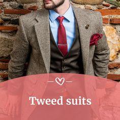 16 mejores imágenes de Tweed suits | Traje de novio, Novios