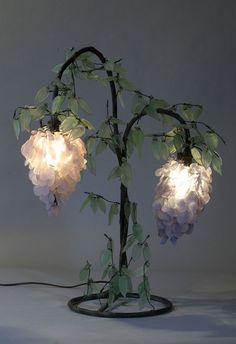 antique Tiffany lamps, Art Nouveau lamps and chandeliers, antique stained and beveled glass