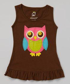 Look at this #zulilyfind! Brown Owl Ruffle Dress - Infant & Toddler #zulilyfinds