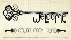 Welcome Key Cross Stitch Kit - £20.00 on Past Impressions   By StitchKits