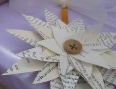 RoomPolish: Craft Day: Book Flowers