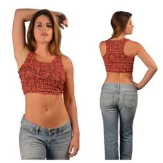"Tribal print crop top Tribal crop top  S: L: 15"" B: 30"" M: L: 15.5"" B: 32"" L: L: 16"" B: 34"" Outer: 95% cotton/ 5% spandex. Great stretch! NWOT. Brand new without tags. Top in photos is size L. Runs slightly small (meant to be more of a tight fit around the bust).  Availability: S•M•L • 2•2•2 PLEASE do not purchase this listing. Price is firm unless bundled. No trades Boutique Tops Crop Tops"