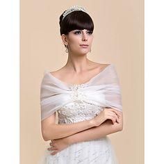 osobní pěkné rukávů organza večerní / svatební šál (více barev) – EUR € 14.69