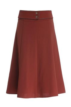 A-Line Retro Belted Skirt