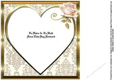 The Bride   Groom   Square Insert on Craftsuprint designed by Kim Blundred - This insert is designed for use with The Bride