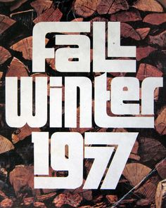 cover of the Sears fall + winter catalog - designer unknown (1977)