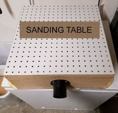 No one wants a dusty workshop. Keep it clean with a DIY sanding table. #WoodworkingTools