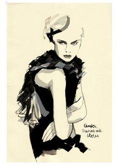 Group of: Fashion Illustration / Francesca Waddell Fashion ...