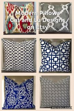 Get your home ready for Spring with pillow covers by Cat and Lu Designs on Etsy. Pillow covers are an easy way to update your Spring decor without breaking the bank. Throw pillows. decorative pillow covers.