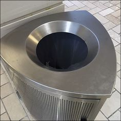 Oh how I enjoy knowing the correct technical term for an object, in this case titling this post a Tyson Mall Reuleaux Triangle Waste Receptacle. Retail Fixtures, Store Fixtures, Metal Store, Galleria Mall, Trash Disposal, Perforated Metal, Trash Bins, Recycling Bins, Triangle