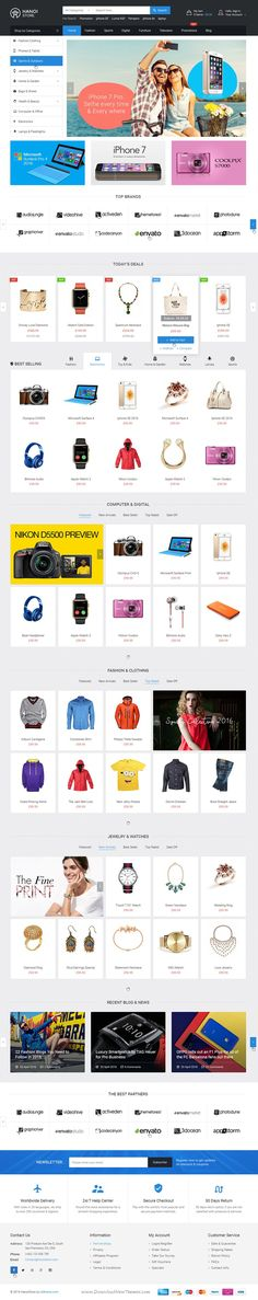 HanoiStore is simple, clean and clear style #PSD #Template for #eCommerce website. Download Now!