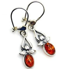 Sterling Silver Natural Baltic Amber Dangle Earrings  Price : $29.95 http://www.silverplazajewelry.com/Sterling-Silver-Natural-Baltic-Earrings/dp/B00J4QCMIE