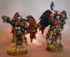 Blood Angels Chaplains by IronKobra