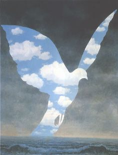 Rene Magritte – surreal beauty infused with nature and dreams. Love.