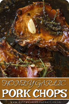 Honey Garlic Pork Chops couldn't be more delicious if they tried. Quick to make with minimal ingredients, these truly are the perfect date night dinner! Honey Garlic Pork Chops, Honey Glazed Pork Chops, Sweet And Sour Pork Chops, Honey Mustard Pork Chops, Balsamic Pork Chops, Smoked Pork Chops, Brown Sugar Pork Chops, Pork Chops Pan Seared, Pork Chops