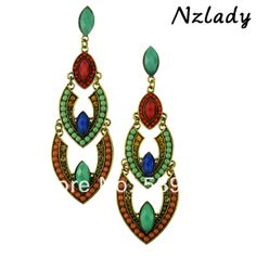 hot sales and free shipping Rhinestone Geometric Alloy Drop multicolor Earrings ER-013571