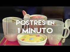 Postres en 1 MINUTO! - DIY | What The Chic - YouTube