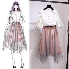 50 Ideas Fashion Design Drawings Models Inspiration For 2019 Women's Dresses, Cute Dresses, Dress Outfits, Fashion Dresses, Dress Up, Fashion Clothes, Clothes Women, Women's Clothes, Fashion Model Sketch