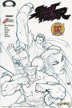 Street Fighter #0 cover by Joe Madureira