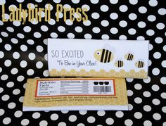 Back to School Teacher Appreciation Gift - So excited to bee in your class - Candybar Wrapper!
