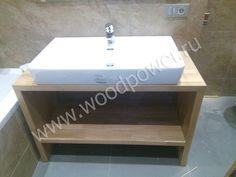 Деревянная столешница для ванной комнаты