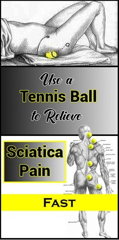"""Use a Tennis Ball to Relieve Sciatica Pain Fast . Loses With Water """"Hack"""" Back Strengthening Exercises, Human Spine, Keto On A Budget, Weight Loss Journal, Sciatica Pain, Weight Loss For Women, Motivation, Health And Wellbeing, Excercise"""
