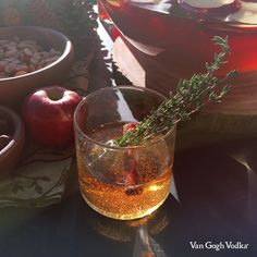This fall batch cocktail calls for just 2 cans of apple juice concentrate, a 2-liter bottle of club soda and a bottle of Van Gogh Dutch Caramel Vodka.