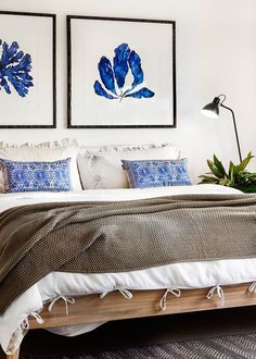 Natural textures and Indigo blue in Cottlesloe -Design Hunter