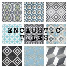 Some of our Encaustic Cement Tiles...