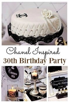 Chanel Inspired 30th Birthday Party