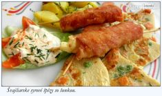 Švajčiarske syrové špízy so šunkou (fotorecept) - recept Sausage, Food And Drink, Meat, Sausages, Chinese Sausage