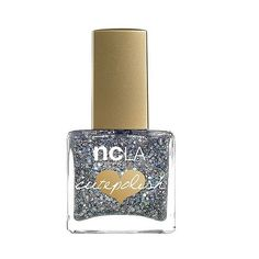 Ncla  CutePolish Crystal Ball Silver Holographic Glitter Nail Polish . ($12) ❤ liked on Polyvore featuring beauty products, nail care, nail polish, makeup, nails, beauty, cosmetics, crystal ball, ncla and ncla nail polish