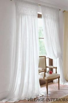 Smocked Sheer Curtain