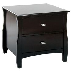 Found it at Wayfair - Milano 2 Drawer Nightstand in Espressohttp://www.wayfair.com/daily-sales/p/Easy-Bedroom-Organization-Milano-2-Drawer-Nightstand-in-Espresso~KUI4302~E14195.html?refid=SBP.rBAZEVQswjCULR-GsJK9AuXgu2g3ckukonZtZtuDrDY