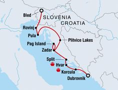 Tour Croatia, visit Dubrovnik, Korcula Island, Hvar Island, Split, Pag Island and the Plitvice Lakes before crossing the border into Slovenia to see pristine Bled.