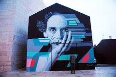 amazing mural painted by Skran from portugal