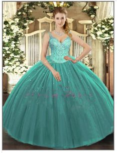 Turquoise Quinceanera Dresses - Vestido de Quinceanera Turquoise Quinceanera Dresses, Custom Dresses, Turquoise Color, Green Dress, Vintage Furniture, Favorite Color, Hemline, Ball Gowns, Tulle
