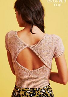 Cool Cropped Top pattern by Paintbox Yarns Knitting Patterns Free, Free Knitting, Free Pattern, Crochet Patterns, Crochet Summer Tops, Summer Knitting, Bauchfreier Pullover, Crop Top Pattern, Paintbox Yarn