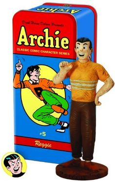 Dark Horse Deluxe Classic Archie Character Statue #5: Reggie by Dark Horse Deluxe. Archie Comic Books, Archie Comics, Comic Books Art, Archie Betty And Veronica, Classic Comics, Dark Horse, Best Memories, Comic Character, Book Series